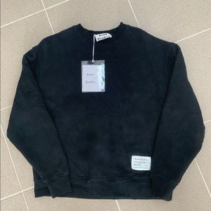 Acne black sweatshirt size xxs - small